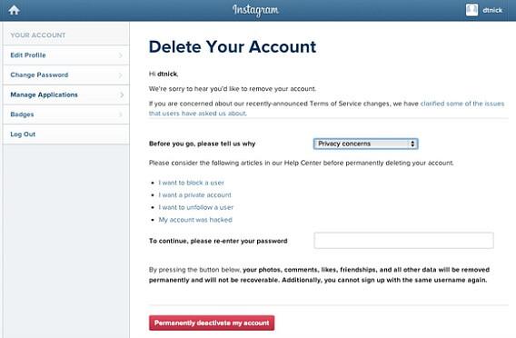 Permanently delete Instagram account – Instagram Online Account