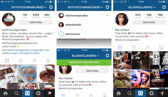 Instagram Online Account – Screenshot