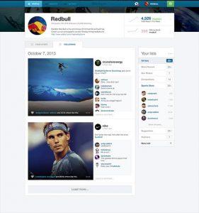 Screenshots of Instagram Web