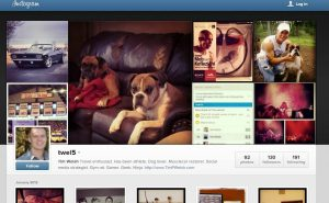 Screenshots of Instagram Web