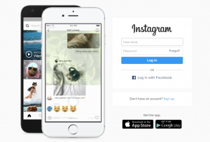 Instagram Login with Facebook from PC