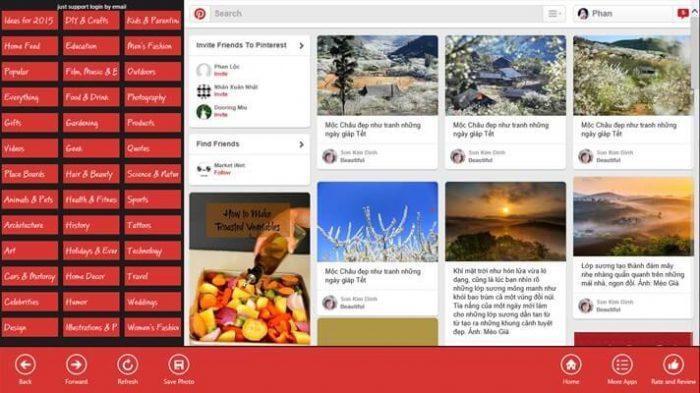 Pinterest for PC