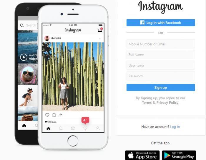 Create An Instagram Account Via Computer